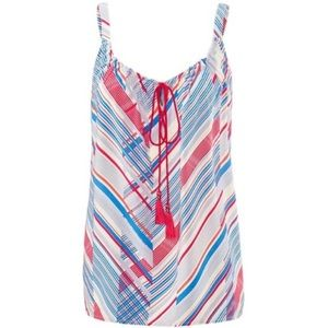 Cabi red, white, and blue tassel tank #5230